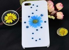 Pressed flower iphone 5 case,Natural flowers Daisy iphone 5s case,iphone 4 4s case,Clover iphone case,Pressed flower case for iphone