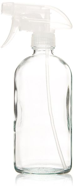 Glass Spray Bottle - Empty Refillable 16 oz Container is Great for Essential Oils, Cleaning Products, Homemade Cleaners, Aromatherapy, Misting Plants with Water, and Vinegar Mixtures for Cleaning or Cooking - Strong Reliable Trigger Sprayer with Mist and Stream Settings ** Check out this great product.