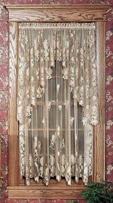 Battenburg Lace Rod Pocket Curtains So Pretty Country