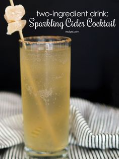 #HappyHour comes to life with just two ingredients for this sparkling #cocktail. #cider