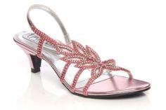 d21bf8941448 Unze Girls Diamante Leaf Patterned Low Heel Bridesmaid