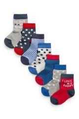 Stars Stripe Socks Seven Pack (Younger Boys)