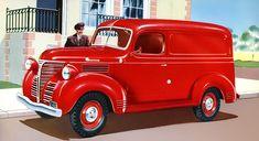Plan59 :: Classic Truck Art :: 1953 Chevrolet bottle carrier at Pepsi bottling plant