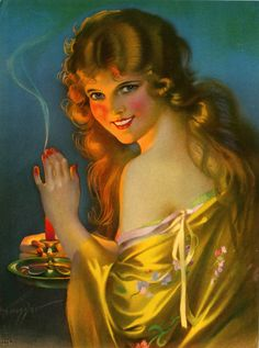 Vintage Gene Pressler Pin-Up Print Bare Shoulder Beauty Candlelight Glow Pinup Art, Pin Up Illustration, Art Through The Ages, Work In New York, Retro Art, Woman Painting, American Artists, Pin Up Girls, Art Deco Fashion