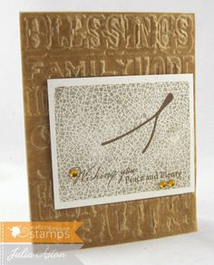 Create With Me: A Turkey Wishbone (actually used a cherry stem stamp!) stamps from Waltzingmouse
