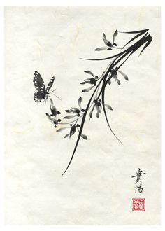 Another Chinese orchid print I made for the 2013 CalArts Print Fair.