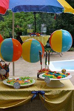 decorating idea for splash party