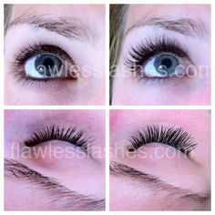 Beautiful eyelash extensions by Flawless Lashes - a great Lash Artist I know!