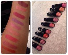 O Beauty Team da NYX Belém fez swatches dos melhores Round Lipsticks para o dia a dia. Na ordem: Thalia, Vitamin, Tea Rose, Power, Rose Bud, Pure Nude, Indian Pink, Darling e NYX