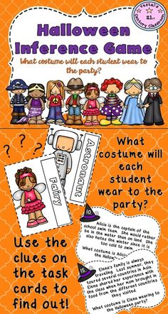 Here's a fun inference game for students to play around Halloween! #vestals21stcenturyclassroom #inferences #makinginferences #inferencegame #inferenceactivities #halloween #halloweenactivities #halloweenupperelementary
