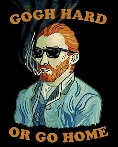 New funny art van gogh Ideas Van Gogh Art, Art Van, Vincent Van Gogh, The Skulls, Work Pictures, Doodles, Funny Art, Illustrations And Posters, Art Inspo