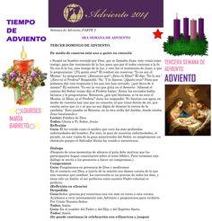 ORACIÓN. Diciembre 14º, DOMINGO 2014. PARTE 2  3RA SEMANA DE ADVIENTO ҉҉LOURDES MARÍA BARRETO҉҉