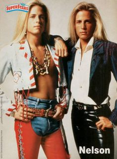 Matthew and Gunnar Nelson, circa 1991; from a SUPERSTARS magazine pinup