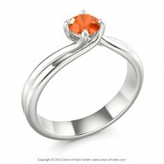 Fire Opal Engagement Ring Sweet Surrender #opal #October #birthstone