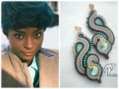 #simona #rotaris #soutache Cute Earrings, Unique Earrings, Boho Earrings, Beautiful Earrings, Ring Earrings, Statement Earrings, Earrings Handmade, Crochet Earrings, Soutache Tutorial