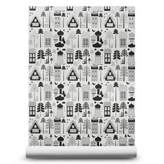 The pretty wallpaper Tingleby from ISAK has a lovely pattern with houses and trees, the design is playful and retro at the same time. This wallpaper looks great in a children´s room or why not in a home office