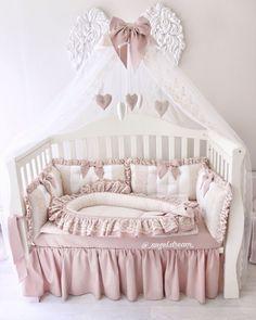 Baby Cot Sets, Girl Crib Bedding Sets, Baby Room Design, Baby Room Decor, Baby Boy Rooms, Baby Cribs, Baby Sleeping Bag Pattern, Baby Bedroom Furniture, Angel Baby Shower
