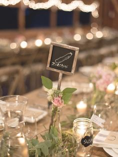 Table Names - Farm to Table Wedding Inspiration - See the wedding on http://www.StyleMePretty.com/2014/04/07/rustic-farm-to-table-wedding-in-montana/ Jeremiah And Rachel Photography - jeremiahandrachel.com