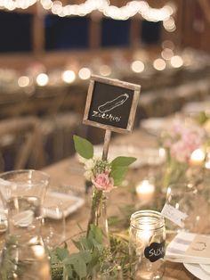 Table Names - Farm to Table Wedding Inspiration - See the wedding on http://www.StyleMePretty.com/2014/04/07/rustic-farm-to-table-wedding-in-montana/ Jeremiah And Rachel Photography - jeremiahandrachel.com