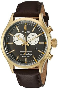 Timex Mens TW2P75300AB Heritage Collection Watch With Brown FauxLeather Band *** Want additional info? Click on the image.