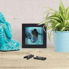 Mini Mermaid Papercut, Miniature Hand Cut Paper cut, Fairytale Wall Art, The Little Mermaid Gift Little Mermaid Gifts, The Little Mermaid, Paper Cutting, Miniatures, Frame Sizes, Box Frames, Fairytale, Mixed Media, Hands