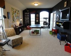 Eclectic Family Room Game Room Design, Pictures, Remodel, Decor and Ideas - page 5