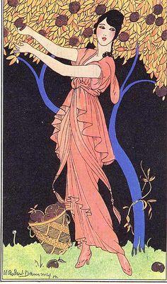Plate for Journal des Dames et des Modes by Dammy, 1914 PUBLIC DOMAIN
