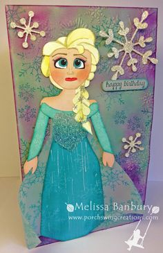 Porch Swing Creations: Elsa from Frozen Punch Art