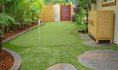 There's no space too big or too small for a SYNLawn putting green ⛳️ installed by SYNLawn Oahu. #SYNLawn #backyardinspo Golf Mats, Site Design, Design Consultant, Oahu, My House, Golf Courses, Paradise, House Ideas, Space