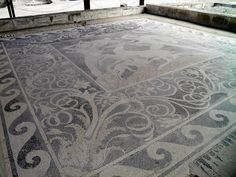Stag Hunt Mosaic from the House of the Abduction of Helen, (c. 300 BC), Ancient Pella