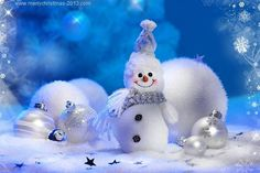 Christmas Wallpapers HD Free Download White Snowman Decorations