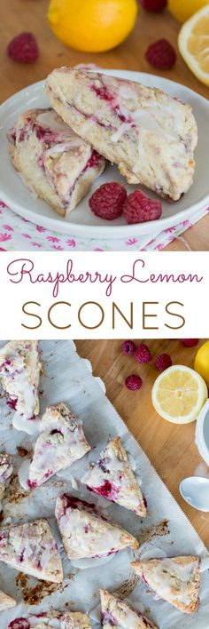 Simple and quick to prepare, these little Raspberry Lemon Scones are full of tart berry and tangy lemon flavor. This easy recipe is perfect for a quick breakfast or an afternoon treat.                                                                                                                                                                                 More