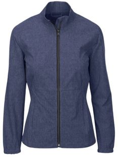 Need new golf apparel? Greg Norman takes pride in offering women's golf clothing for all shapes and sizes. Buy this ESSENTIALS Navy Heather Greg Norman Ladies & Plus Size Windbreaker Full Zip Golf Jacket today from Lori's Golf Shoppe!
