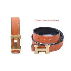 Dinamit Women's H-design Reversible Belt with Removable Buckle