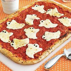 Ghostly Pizza | MyRecipes.com