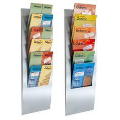 Wand - Prospekthalter Varia 6 x A4, 6x A5 oder 12x DIN lang  #zeitschriftenständer