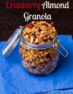 Cranberry Almond Granola (vegan & gluten free)