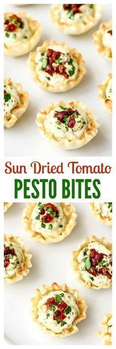 Sun Dried Pesto Bites