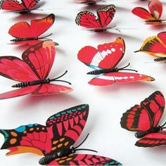Wall Decals Wall Decor PVC Butterflies Wall Stickers Decoration Magnet Butterflies on the wall DIY Wallpaper for Kids Room Home Decoration Wall Decals For Kids Rooms red * Details can be found by clicking on the image. (This is an affiliate link) Diy Butterfly, Butterfly Wall Decor, Butterfly Wall Stickers, Kids Wall Decals, Wall Stickers Home Decor, Wall Stickers Murals, Kids Room Wallpaper, Diy Wallpaper, Fridge Decor
