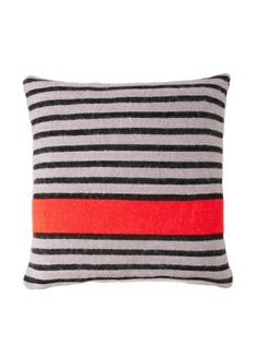 Sonia Rykiel Maison Bouquet Rouge Knitted Wool & Mohair Pillow, Scarlet $121