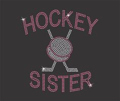 Girls Hockey Sister T-shirt by RedheadedMonkeys on Etsy