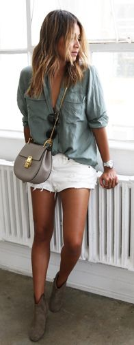 Grey And White Casual Outfit by Sincerely Jules