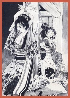 Art And Illustration, Kalluto Zoldyck, Arte Indie, Comic Style Art, Japanese Horror, Beautiful Dark Art, Geisha Art, Rope Art, Dark Art Drawings