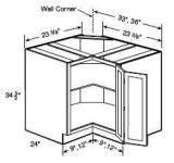 CSB36 - Trenton Maple Espresso Diagonal Corner Sink Base Cabinet ...