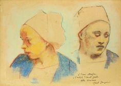 Paul Gauguin- Deux têtes de Bretonnes,1894 - Musée de Pont-Aven