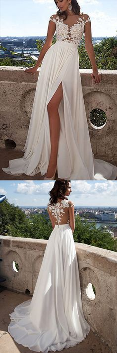 Wedding Dress,Beach Wedding Dresses, Wedding Gowns,Prom Dresses Long,Party Dresses,Prom Gowns,Gowns Prom,Evening Dresses,Cheap Prom Dresses,Dresses for Girls,Prom Dress UK,Prom Suit,Prom Dress Brand,Prom Dress Store,Long White Lace A-Line Prom Dress With Appliques,Sexy Wedding Dress,SVD356