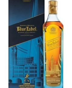 Introducing the Johnnie Walker Blue Label London Edition, featuring the iconic skyline of this global capital. Only of these stunning bottles have been produced, and will be available for purchase from selected UK retailers. by johnniewalker Scotch Whiskey, Bourbon Whiskey, Blue Label Whisky, Johnnie Walker Whisky, Johnny Walker Blue Label, Best Fragrance For Men, Spirit Drink, Vodka Martini, Bottle Design