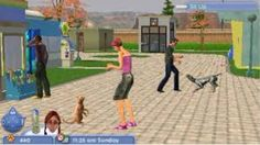 The Sims 2 Pets Gamecube Town Square