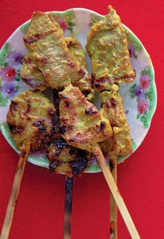 Muu Satay (Thai Pork Satay), but I'm thinking veggies instead since the sauce is quite flavorful. YUM!