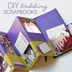 DIY WEDDING SCRAPBOOK IDEAS i could send this out to the family as our.. we got married announcement.